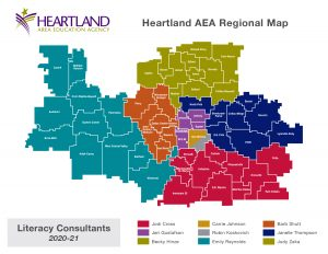 AEA Literacy Consultants Map 202021